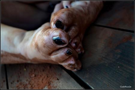 Dédicace pour les fans de pieds en chocolat