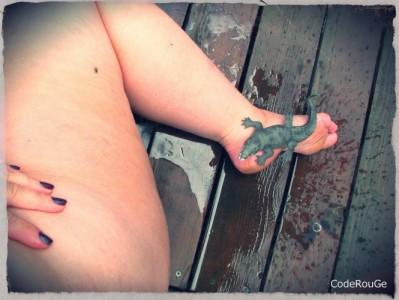Un croco sur mon pied, ca vous dit d'être à sa place