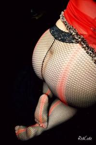 Résilles rouge et noir