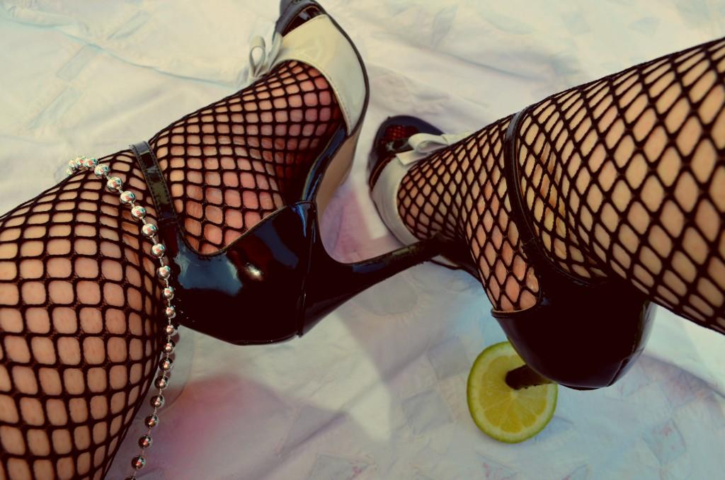 Grosse maille et escarpins citron