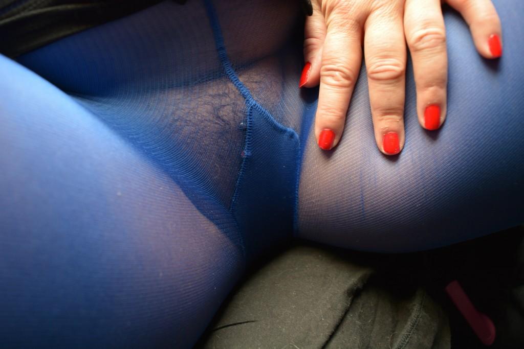 Piercing bleu